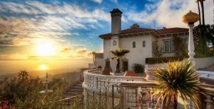 Hearst Castle at Sunset