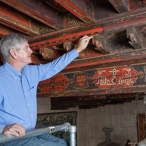 Conservator Gary Hulbert at Hearst Castle