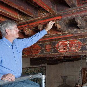 Conservator Gary Hulbert at Hearst Castle