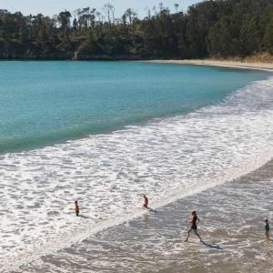 Kids Playing at San Simeon State Beach