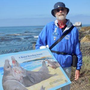 Rusty Moore, Elephant Seal Volunteer, San Simeon, CA