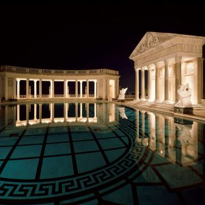 Hearst Castle Neptune Pool at Night