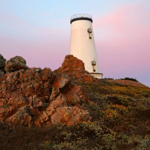 Piedras Blancas Lighthouse at Sunset, San Simeon, CA