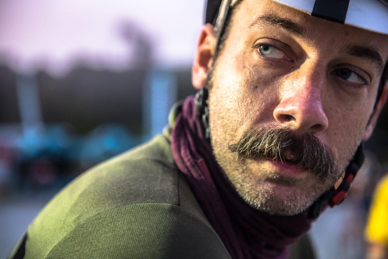 Cyclist in San Simeon